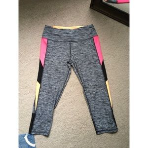 Multi colored athletic leggings